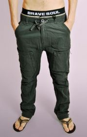 Mens Charcoal Cotton Combat Pants